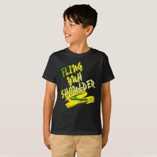 """Camiseta Jamaica """"hombro de Yuh del Fling"""" embroma la"""
