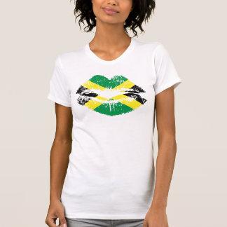 Camiseta jamaicana para las señoras. Manga corta