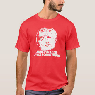 Camiseta Janet Yellen odia medios sociales