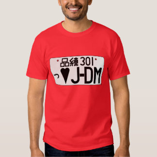 Camiseta japonesa de la placa del amor de JDM