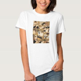 Camiseta japonesa de los perritos