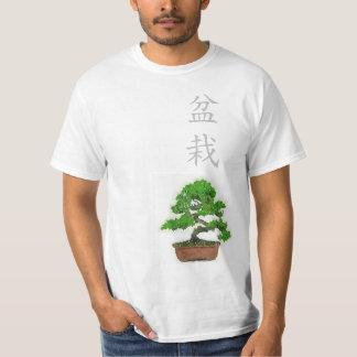 Camiseta japonesa del árbol de los bonsais de los