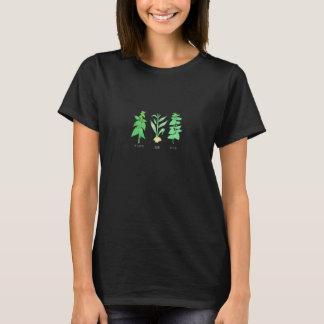 Camiseta japonesa del pixel de la planta