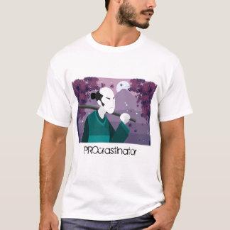 Camiseta japonesa del PROcrastinator del hombre