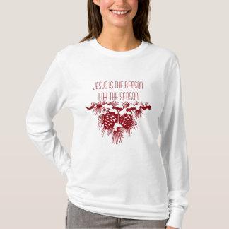 Camiseta JESÚS ES LA RAZÓN de la cita del navidad de la