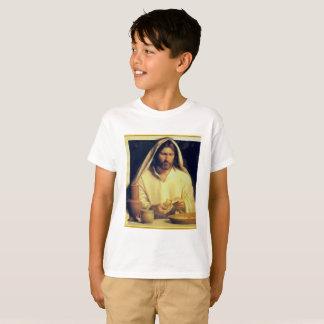 Camiseta Jesús que rompe textura del oro de matthew 14-13