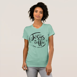 Camiseta Jesús y café