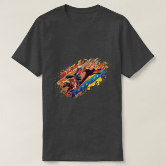 Camiseta Jinete de Bull del americano