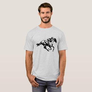 Camiseta Jinete de la carrera de caballos del número uno