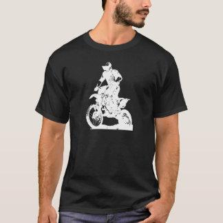 Camiseta Jinete del motocrós en la bici - fondo editable
