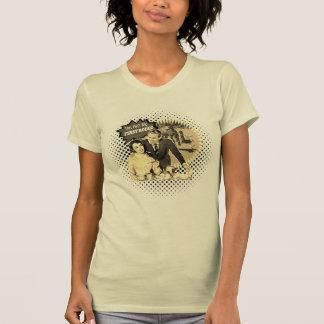 Camiseta Jinete retro del Bronc de los pares del primer