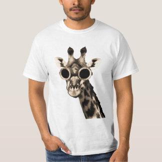 Camiseta Jirafa con las gafas de las gafas de sol de