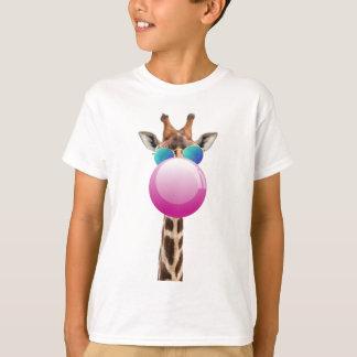 Camiseta Jirafa fresca y Bubblegum