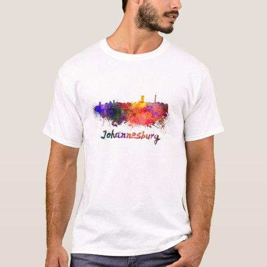 Camiseta Johannesburg skyline in watercolor