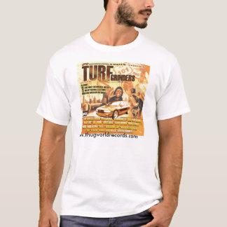 Camiseta jonez de Jill de las amoladoras del césped de la