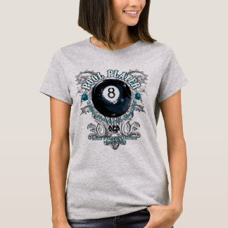 Camiseta Jugador 8-Ball afiligranado de la piscina