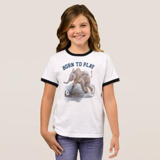 Camiseta juguetona del campanero del elefante de