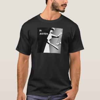 Camiseta Justicia minimalista blanco y negro