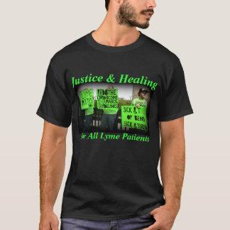 Camiseta Justicia y cura para todos los pacientes de Lyme