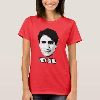 """Camiseta Justin Trudeau - """"ey chica """""""