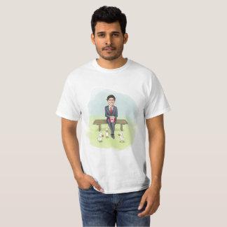 Camiseta Justin Trudeau que pierde fondos provenientes de