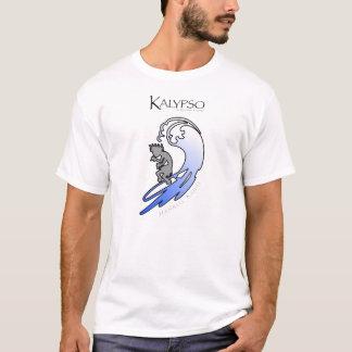 Camiseta Kalypso Kane que practica surf en azul