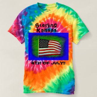 Camiseta Kansas esterlina 4to del lazo de julio murió