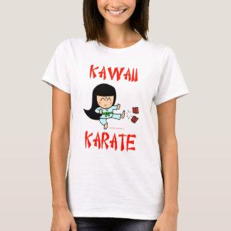 Camiseta karate lindo del chibi de los artes marciales del