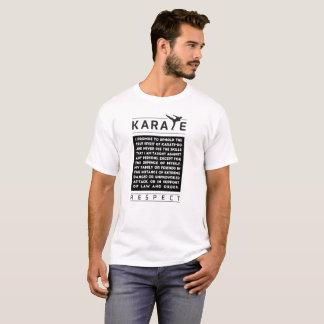 Camiseta Karate - promesa - respecto
