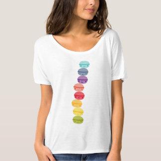 Camiseta Kawaii Macarons apilado arco iris