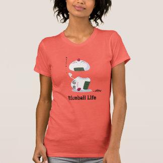 Camiseta Kawaii Riceball/Onigiri - Vida dura