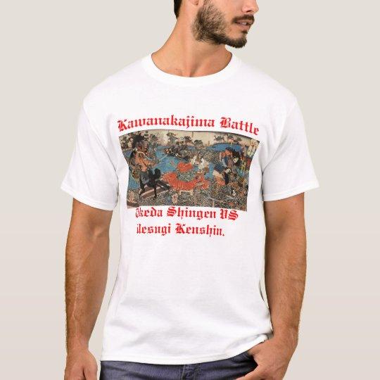 Camiseta Kawanakajima Takeda Shingen y Uesugi Kenshin.