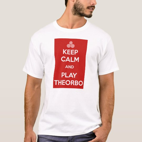 Camiseta Keep calm and play theorbo