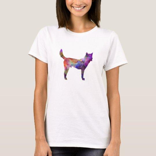 Camiseta Korea Jindo Dog in watercolor