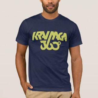 Camiseta Krav Maga 360 - azul marino/amarillo