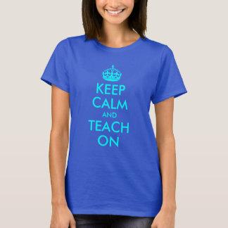 Camiseta La aguamarina guarda calma y la enseña encendido
