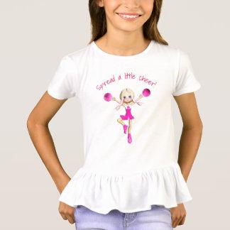 Camiseta La animadora en rosas fuertes separó una poca