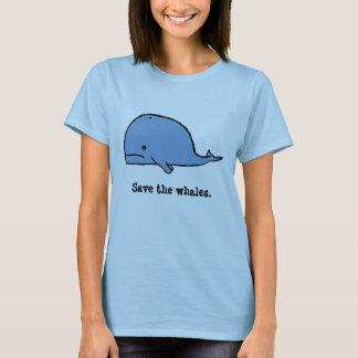 Camiseta la ballena, ahorra las ballenas