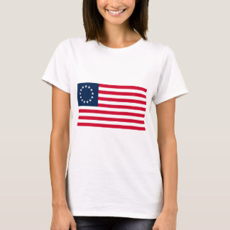 Camiseta La bandera revolucionaria de Betsy Ross de la