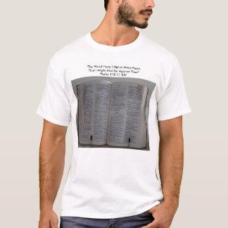 """Camiseta La biblia, """"Thy palabra me tiene ocultó en el"""