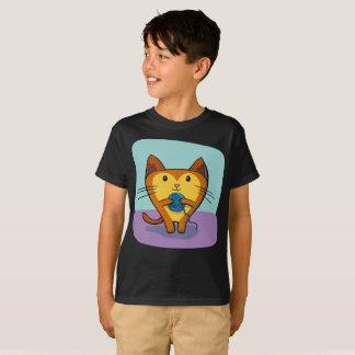 Camiseta La bola linda del hilado de Gato del gato cose la