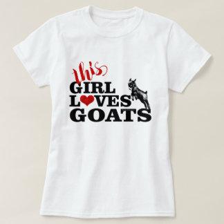 Camiseta La CABRA el | este chica ama al bebé del pigmeo de