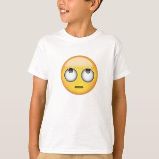 Camiseta La cara con el balanceo observa Emoji