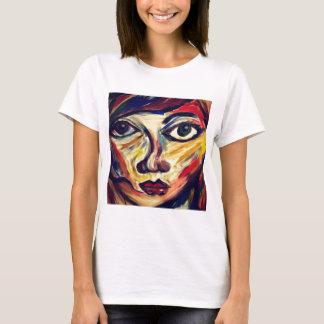 Camiseta La cara de la mujer abstracta