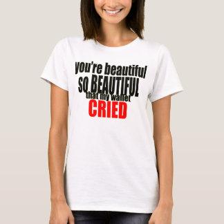Camiseta la cartera hermosa lloró las mujeres costosas