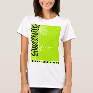 Camiseta La cebra chartreuse raya el estampado de animales;