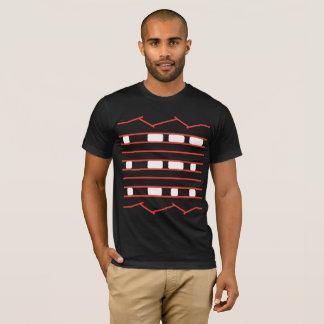Camiseta La curiosidad Rover de JPL cansa rojo y blanco de