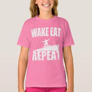 Camiseta La estela come la repetición #2 de la snowboard