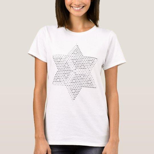 Camiseta La estrella de David hizo con números