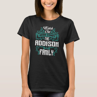 Camiseta La familia de ADDISON. Cumpleaños del regalo